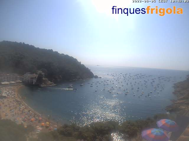 Webcam de Tamariu plage