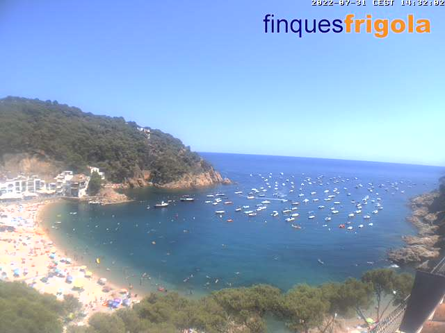 Webcam de Tamariu playa