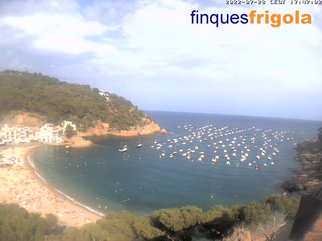 Costa brava webcam - Tamariu - Spain